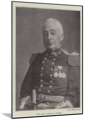 The Late Admiral Colomb--Mounted Giclee Print