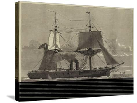 Our Ironclad Fleet, HMS Temeraire, Launched at Chatham on Tuesday Last--Stretched Canvas Print