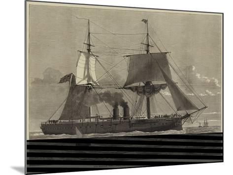 Our Ironclad Fleet, HMS Temeraire, Launched at Chatham on Tuesday Last--Mounted Giclee Print