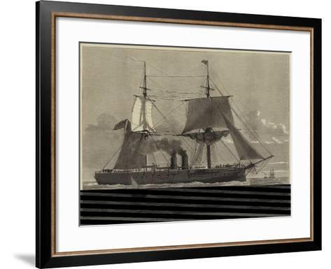 Our Ironclad Fleet, HMS Temeraire, Launched at Chatham on Tuesday Last--Framed Art Print