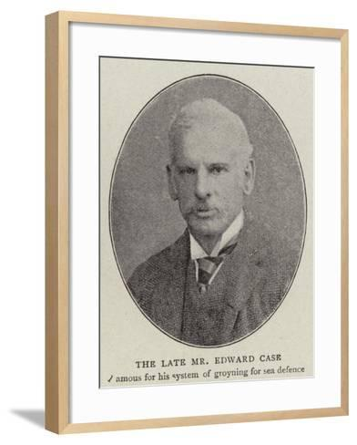 The Late Mr Edward Case--Framed Art Print