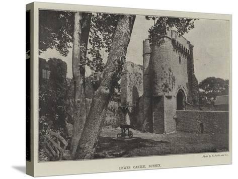 Lewes Castle, Sussex--Stretched Canvas Print