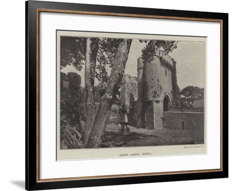Lewes Castle, Sussex--Framed Art Print