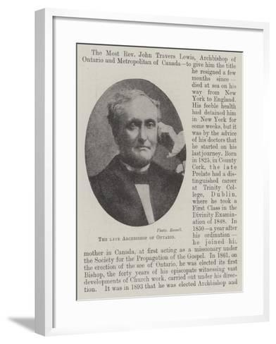 The Late Archbishop of Ontario--Framed Art Print