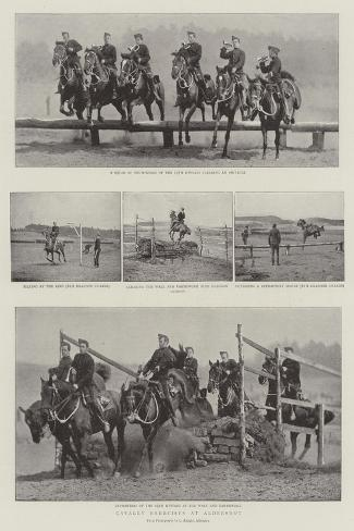 Cavalry Exercises at Aldershot--Stretched Canvas Print