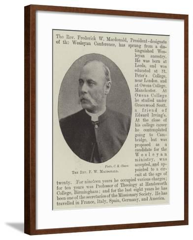 The Reverend F W Macdonald--Framed Art Print