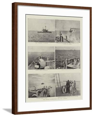 The Naval Manoeuvres and the Camera--Framed Art Print