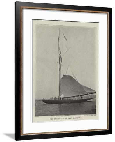 The Broken Gaff of the Shamrock--Framed Art Print