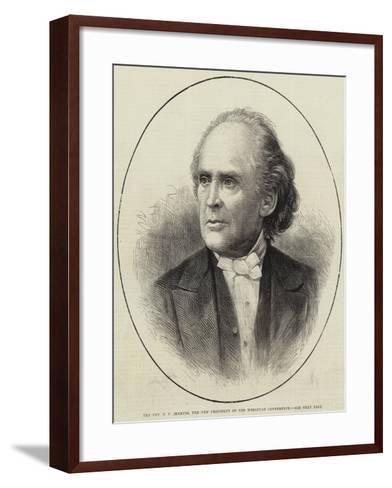 The Reverend E E Jenkins, the New President of the Wesleyan Conference--Framed Art Print