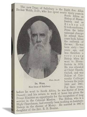 Dr Webb, New Dean of Salisbury--Stretched Canvas Print