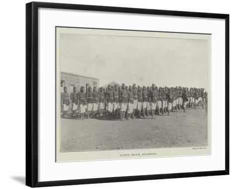 Native Police, Bulawayo--Framed Art Print