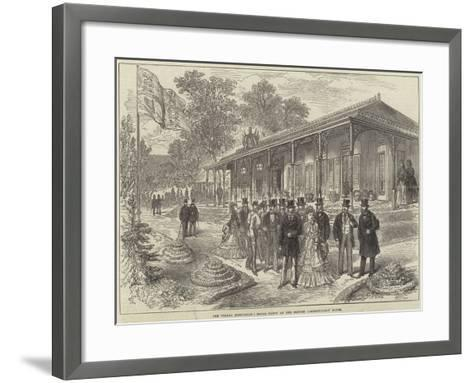 The Vienna Exhibition, Royal Party at the British Commissioners' House--Framed Art Print