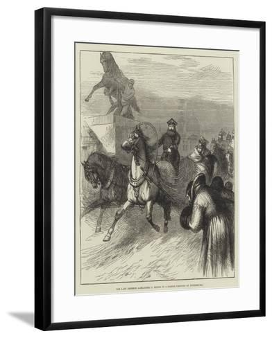 The Late Emperor Alexander II Riding in a Sledge Through St Petersburg--Framed Art Print