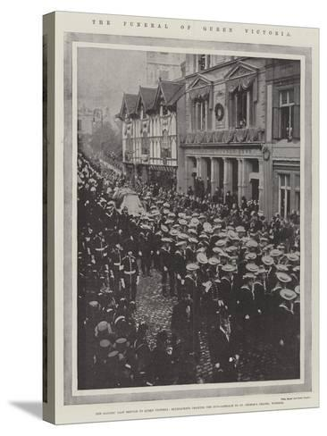 The Funeral of Queen Victoria--Stretched Canvas Print