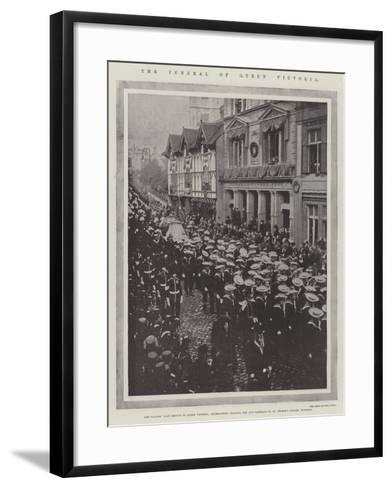 The Funeral of Queen Victoria--Framed Art Print