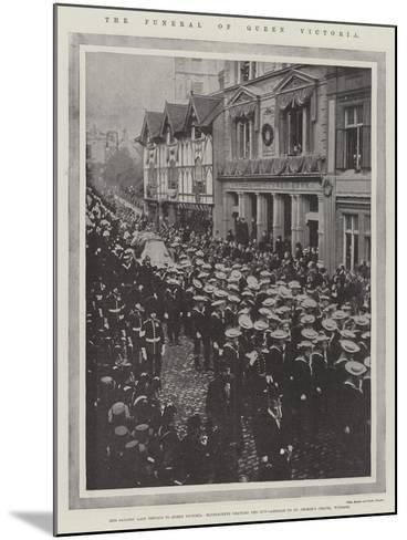 The Funeral of Queen Victoria--Mounted Giclee Print