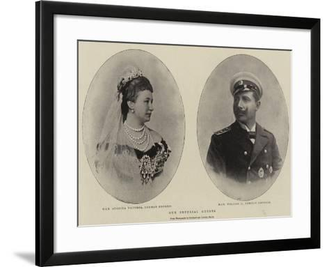 Our Imperial Guests--Framed Art Print