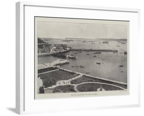 The Naval Manoeuvres, the Fleet in Torbay--Framed Art Print