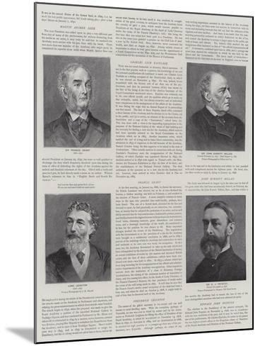 Presidents of the Royal Academy--Mounted Giclee Print