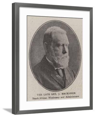 The Late Reverend J Mackenzie--Framed Art Print