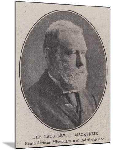 The Late Reverend J Mackenzie--Mounted Giclee Print