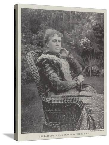 The Late Mrs Joseph Parker in Her Garden--Stretched Canvas Print