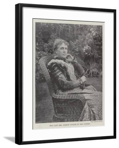 The Late Mrs Joseph Parker in Her Garden--Framed Art Print