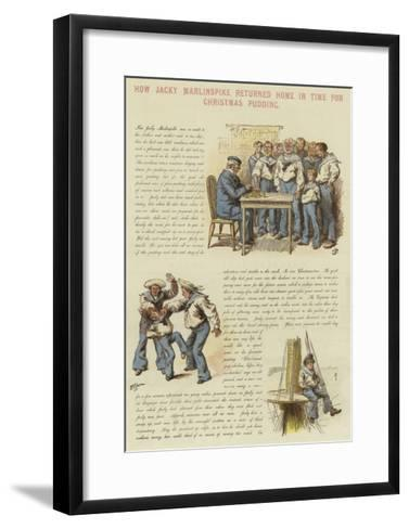 How Jacky Marlinspike Returned Home in Time for Christmas Pudding--Framed Art Print