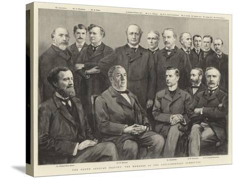 The South African Inquiry, the Members of the Parliamentary Committee--Stretched Canvas Print