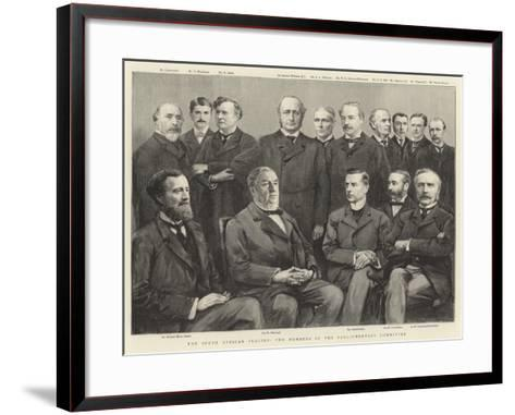 The South African Inquiry, the Members of the Parliamentary Committee--Framed Art Print