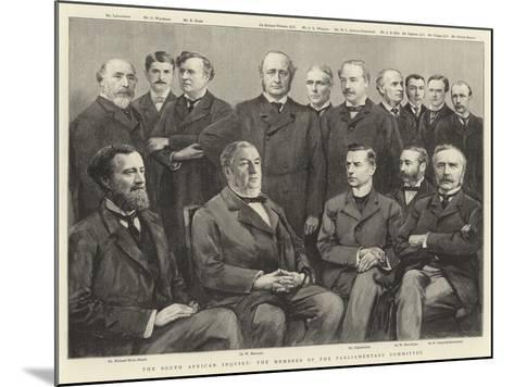 The South African Inquiry, the Members of the Parliamentary Committee--Mounted Giclee Print