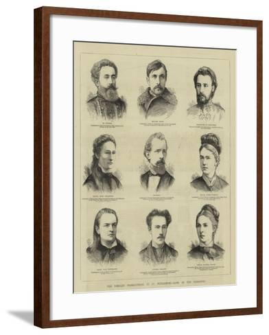 The Nihilist Prosecutions at St Petersburg, Some of the Prisoners--Framed Art Print