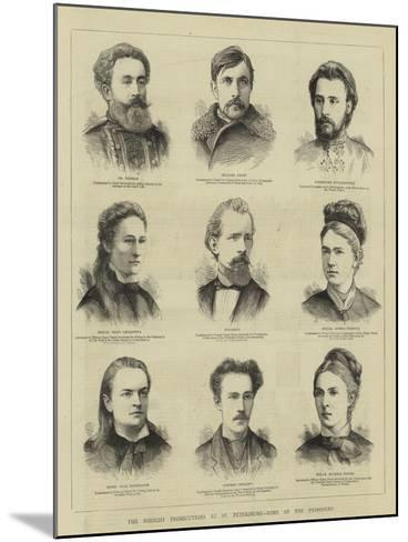 The Nihilist Prosecutions at St Petersburg, Some of the Prisoners--Mounted Giclee Print