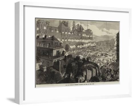 The Red Republican Insurgents Attacking the Hotel De Ville, Paris--Framed Art Print