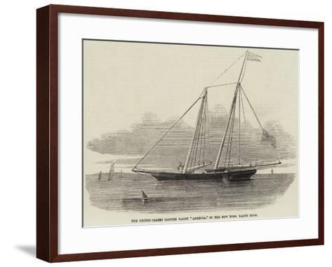 The United States Clipper Yacht America, of the New York Yacht Club--Framed Art Print