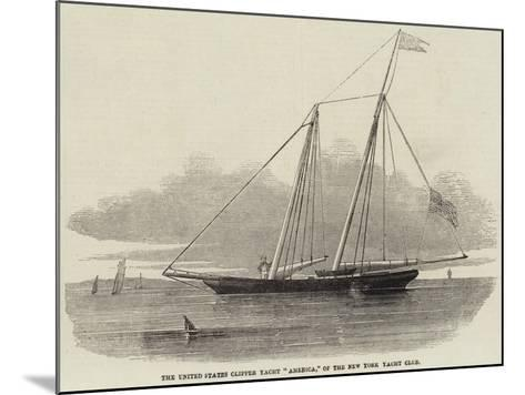 The United States Clipper Yacht America, of the New York Yacht Club--Mounted Giclee Print