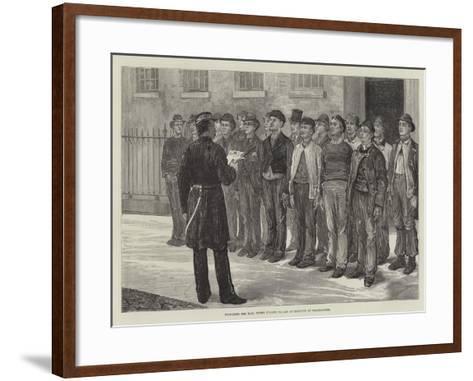 Preparing for War, Three O'Clock Parade of Recruits at Westminster--Framed Art Print