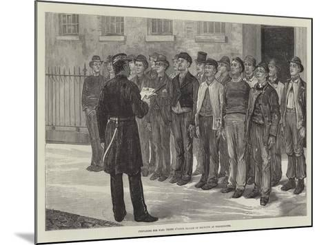 Preparing for War, Three O'Clock Parade of Recruits at Westminster--Mounted Giclee Print
