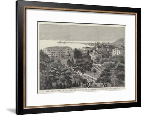 San Remo, Where the Crown Prince of Germany Is Spending the Winter--Framed Art Print