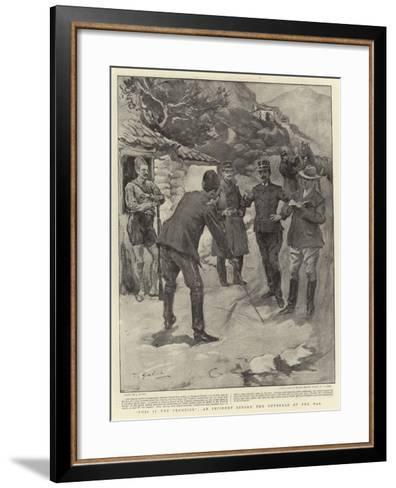This Is the Frontier, an Incident before the Outbreak of the War--Framed Art Print