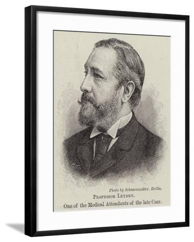 Professor Leyden, One of the Medical Attendants of the Late Czar--Framed Art Print