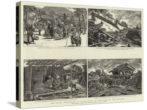 The Great Earthquake in Japan, Views at the Scenes of the Disaster--Stretched Canvas Print