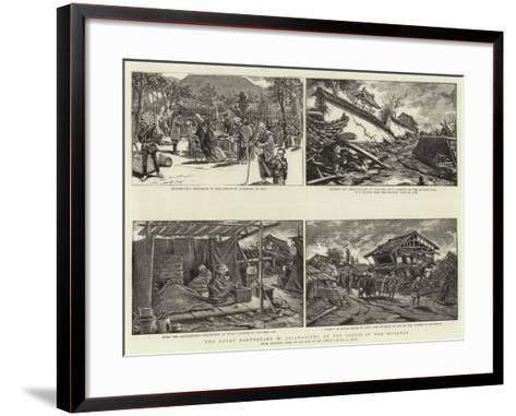 The Great Earthquake in Japan, Views at the Scenes of the Disaster--Framed Art Print