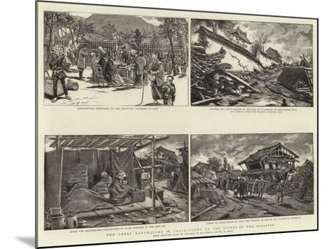 The Great Earthquake in Japan, Views at the Scenes of the Disaster--Mounted Giclee Print