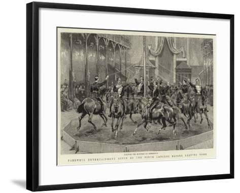 Farewell Entertainment Given by the Ninth Lancers before Leaving York--Framed Art Print