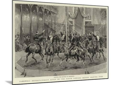 Farewell Entertainment Given by the Ninth Lancers before Leaving York--Mounted Giclee Print