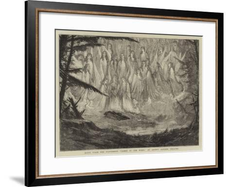 Scene from the Pantomime Babes in the Wood at Covent Garden Theatre--Framed Art Print