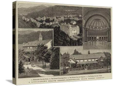 A Little-Known Health Resort, Badenweiler, Black Forest, Germany--Stretched Canvas Print