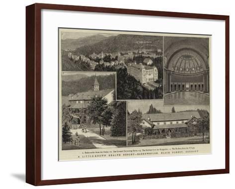 A Little-Known Health Resort, Badenweiler, Black Forest, Germany--Framed Art Print
