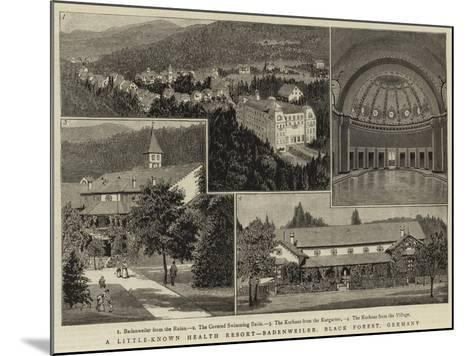 A Little-Known Health Resort, Badenweiler, Black Forest, Germany--Mounted Giclee Print